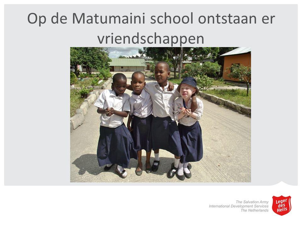 Op de Matumaini school ontstaan er vriendschappen