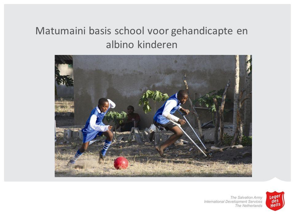 Matumaini basis school voor gehandicapte en albino kinderen