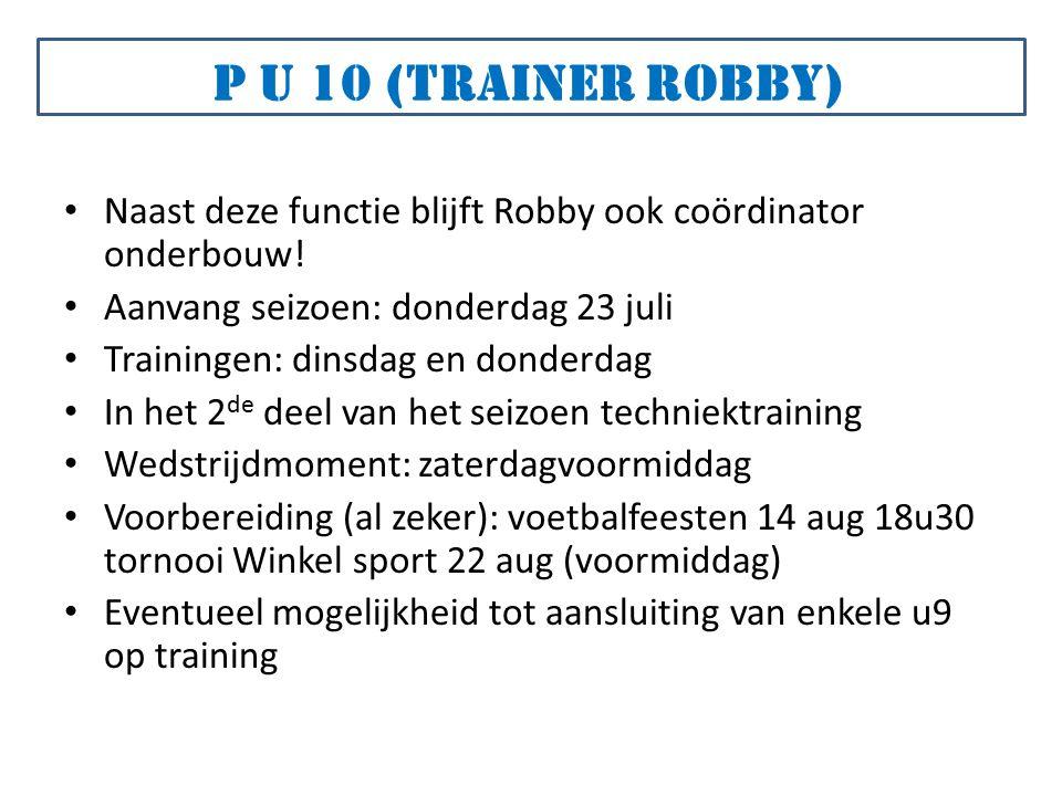 Naast deze functie blijft Robby ook coördinator onderbouw.