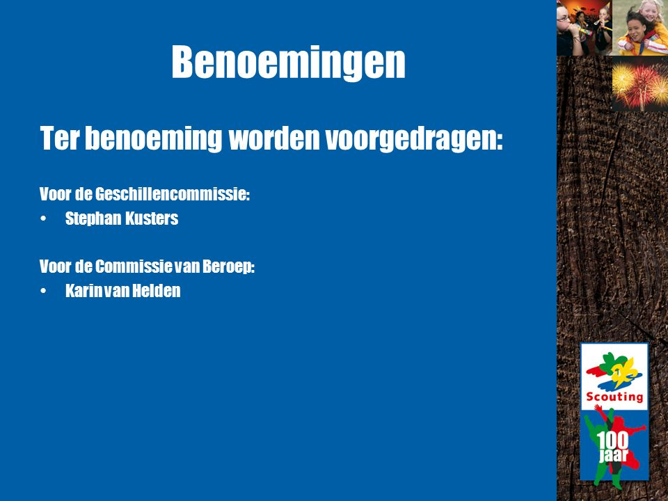 Huishoudelijk Reglement Herzieningen, met name volgend op de veranderingen vanuit projecten 2010.