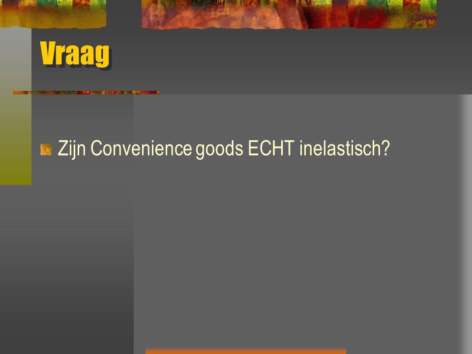 Vraag Zijn Convenience goods ECHT inelastisch?