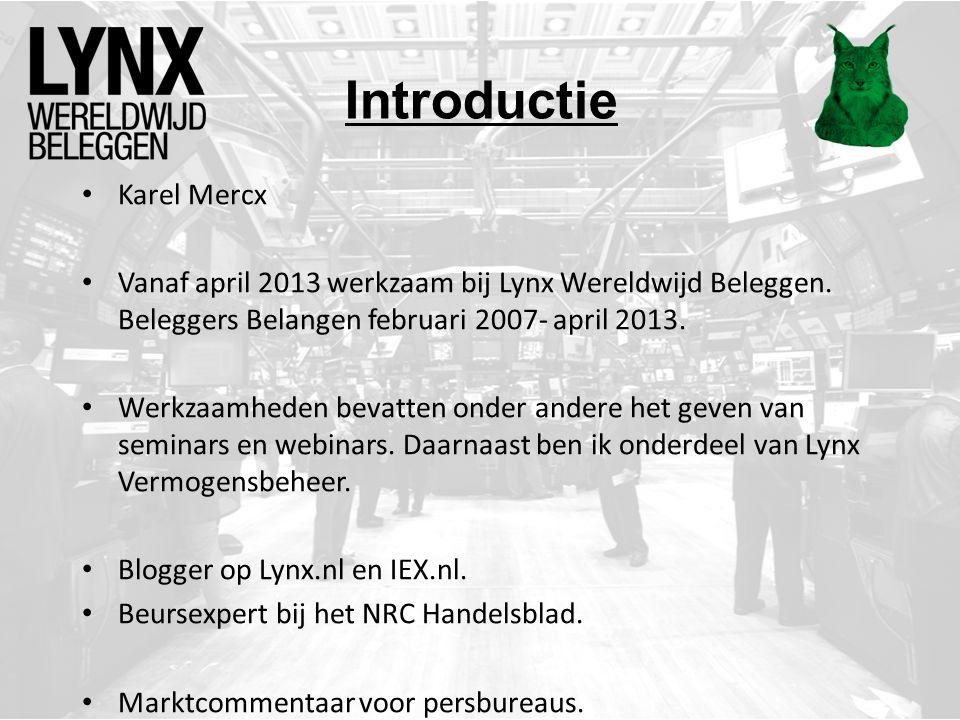 Vragen? E-mail: k.mercx@lynx.nl Twitter: @karelmercx