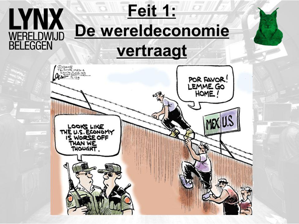 Feit 1: De wereldeconomie vertraagt