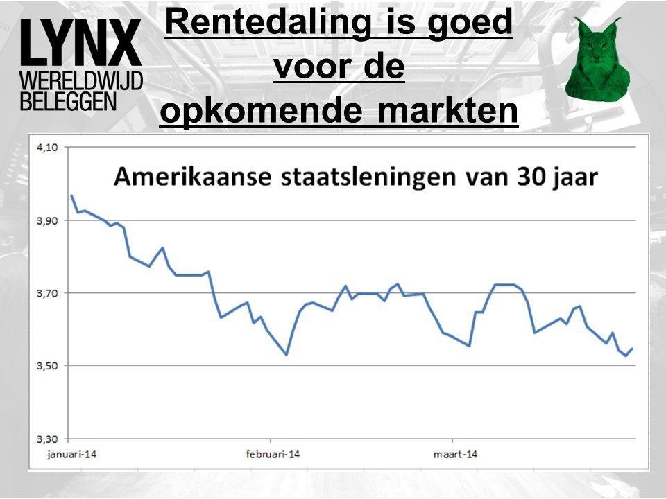 Rentedaling is goed voor de opkomende markten