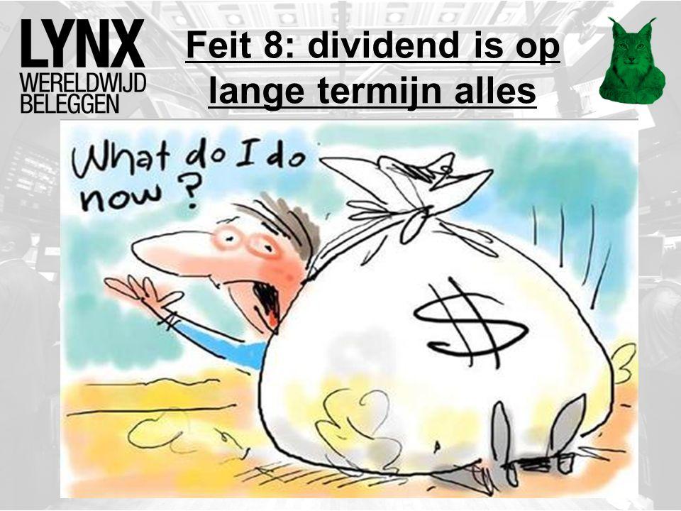 Feit 8: dividend is op lange termijn alles