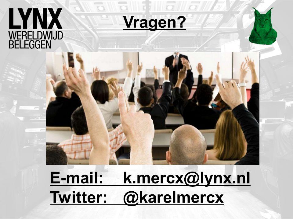 Vragen E-mail: k.mercx@lynx.nl Twitter: @karelmercx