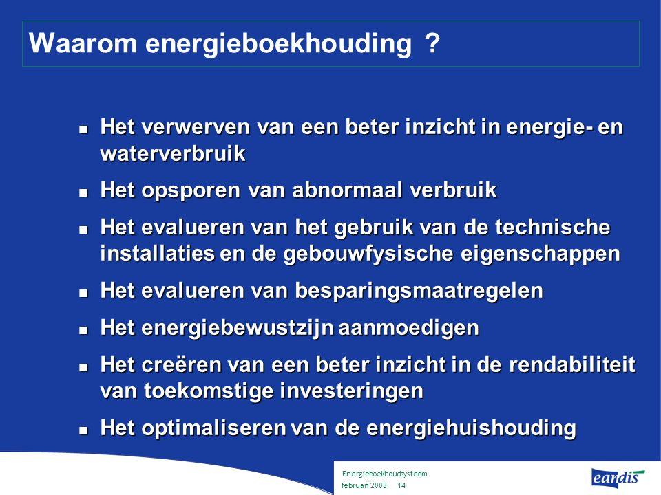 Energieboekhoudsysteem februari 2008 13 Wat is energieboekhouding .