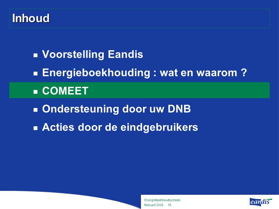Energieboekhoudsysteem februari 2008 14 Waarom energieboekhouding .