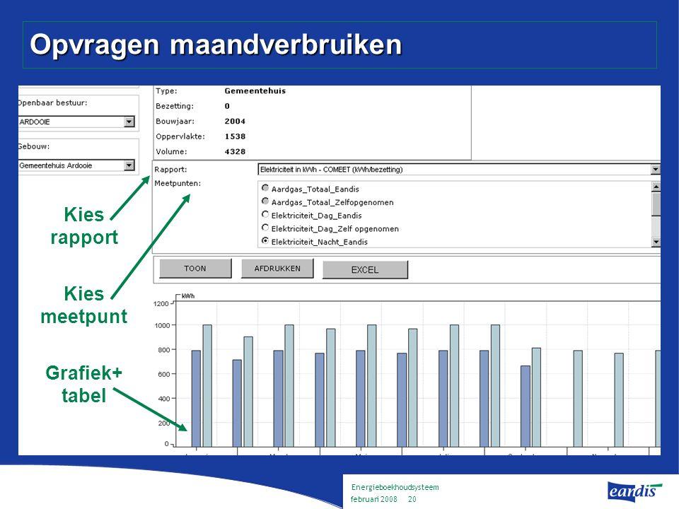 Energieboekhoudsysteem februari 2008 19 Aanpak Hoe komen we tot een werkende energieboekhouding .