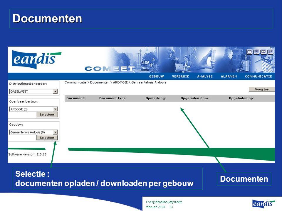 Energieboekhoudsysteem februari 2008 22 Benchmark Kengetal t.o.v.