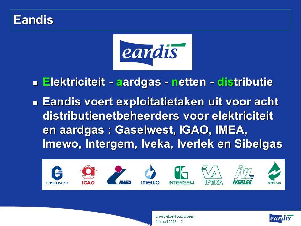Energieboekhoudsysteem februari 2008 6 Gemengde distributienetbeheerders aardgas