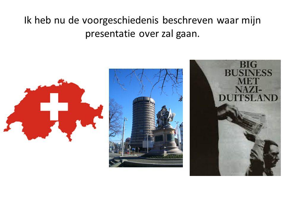 Ik heb nu de voorgeschiedenis beschreven waar mijn presentatie over zal gaan.