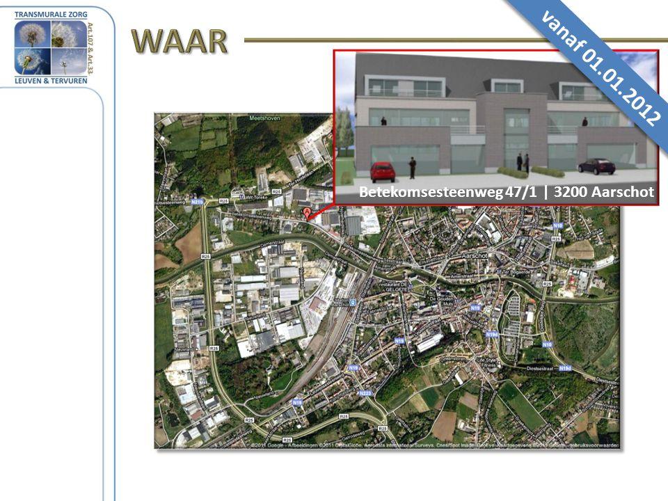 Betekomsesteenweg 47/1 | 3200 Aarschot vanaf 01.01.2012