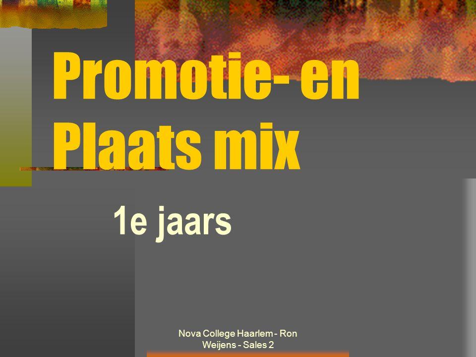 Nova College Haarlem - Ron Weijens - Sales 2 Promotie- en Plaats mix 1e jaars