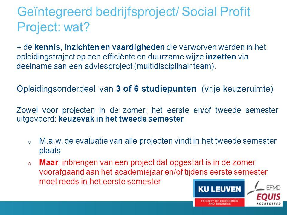 Geïntegreerd bedrijfsproject/ Social Profit Project: wat.