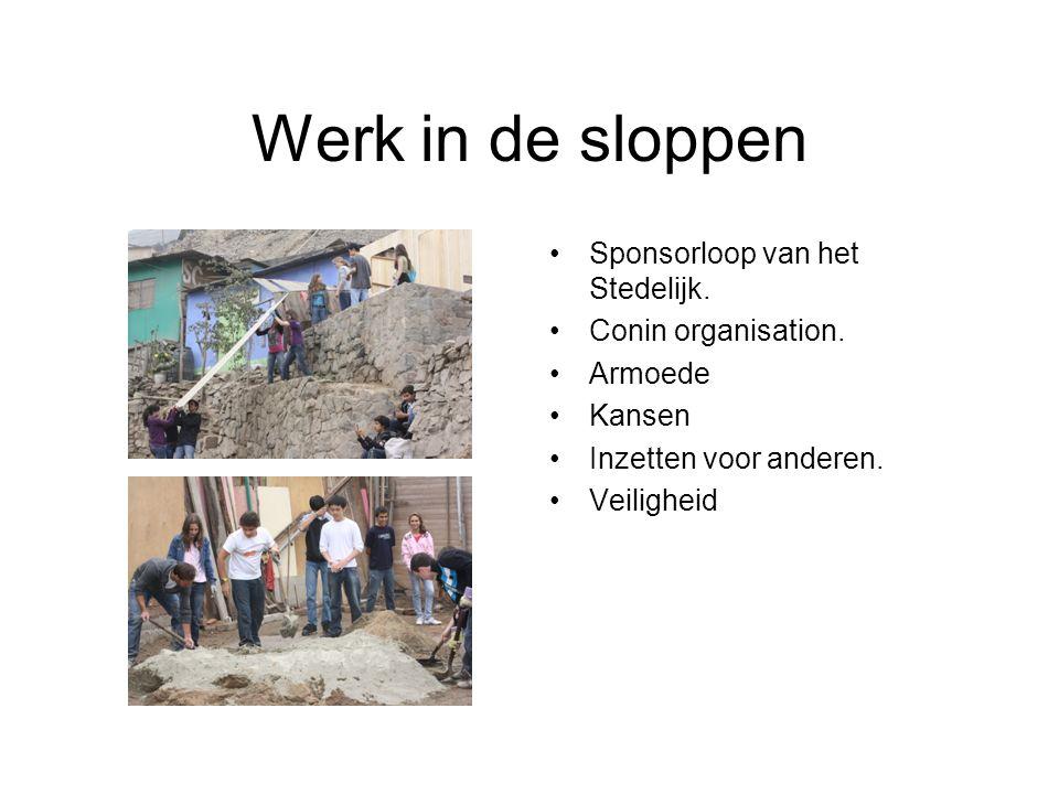 Werk in de sloppen Sponsorloop van het Stedelijk. Conin organisation.