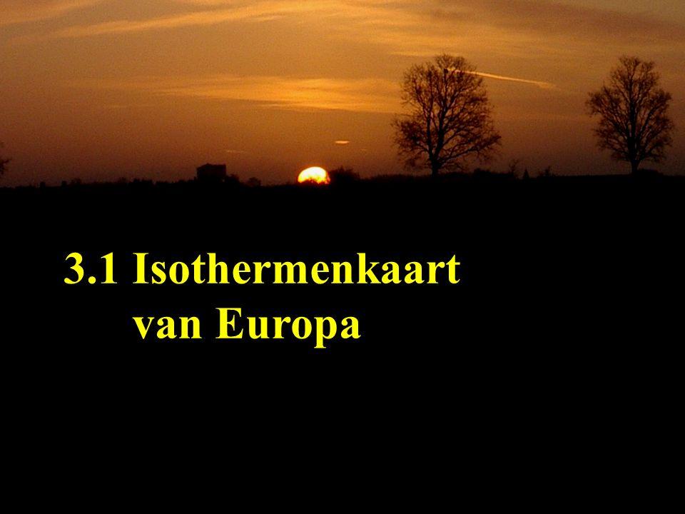 3.1 Isothermenkaart van Europa