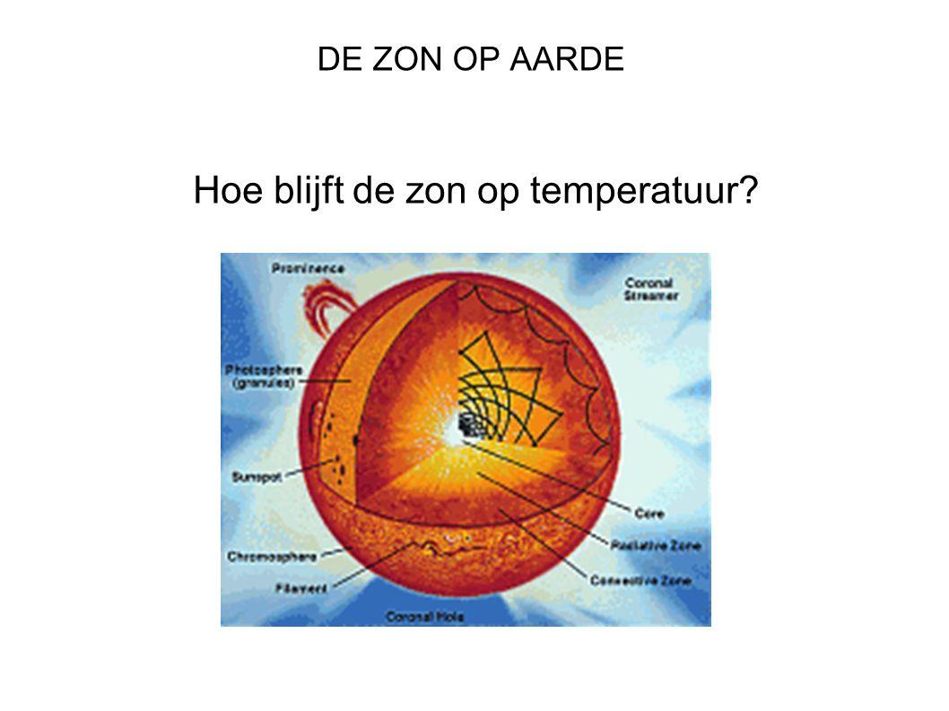 DE ZON OP AARDE Hoe blijft de zon op temperatuur
