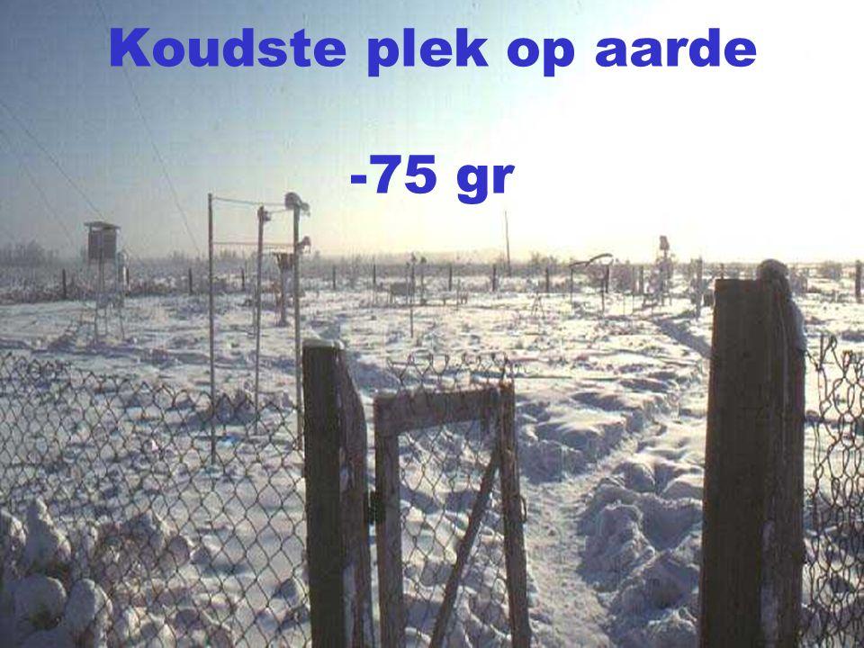 Koudste plek op aarde -75 gr