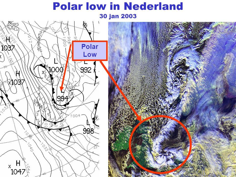 Polar low in Nederland 30 jan 2003 Polar Low
