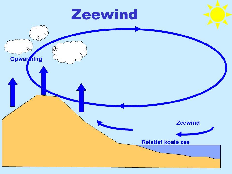 Zeewind Relatief koele zee Opwarming