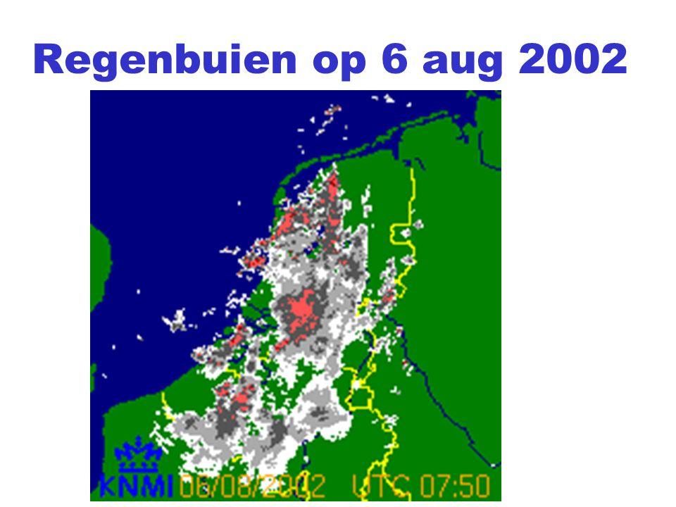Regenbuien op 6 aug 2002