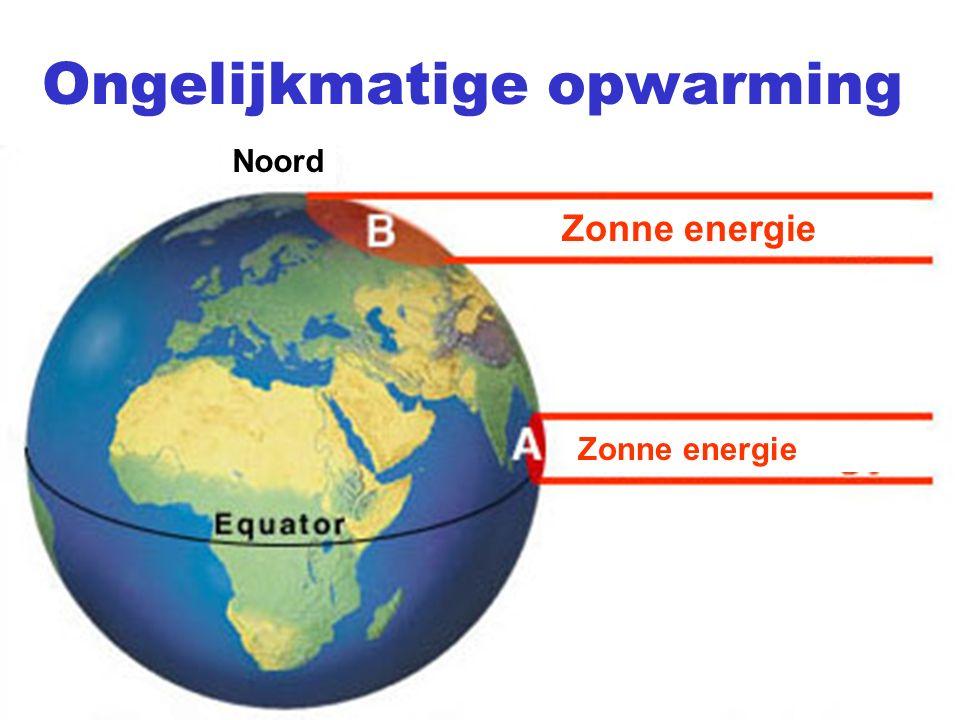 Ongelijkmatige opwarming Zonne energie Noord