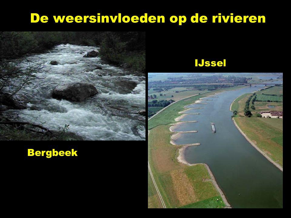 De weersinvloeden op de rivieren Bergbeek IJssel