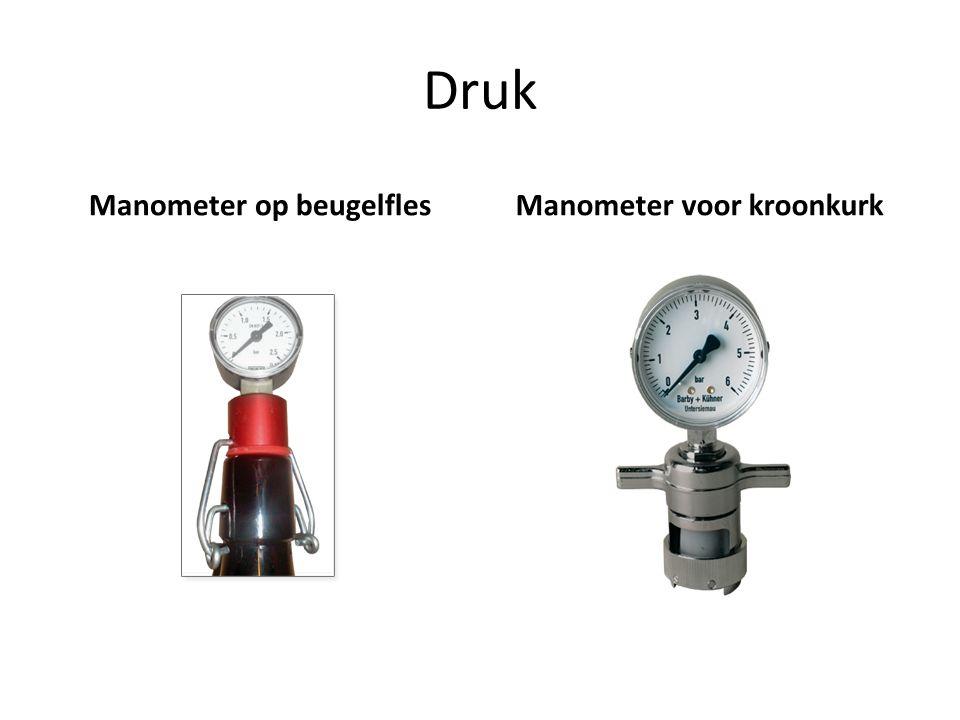 Druk Manometer op beugelflesManometer voor kroonkurk