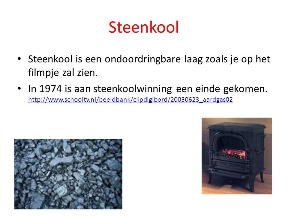 Steenkool Steenkool is een ondoordringbare laag zoals je op het filmpje zal zien.