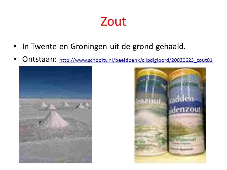 Zout In Twente en Groningen uit de grond gehaald.