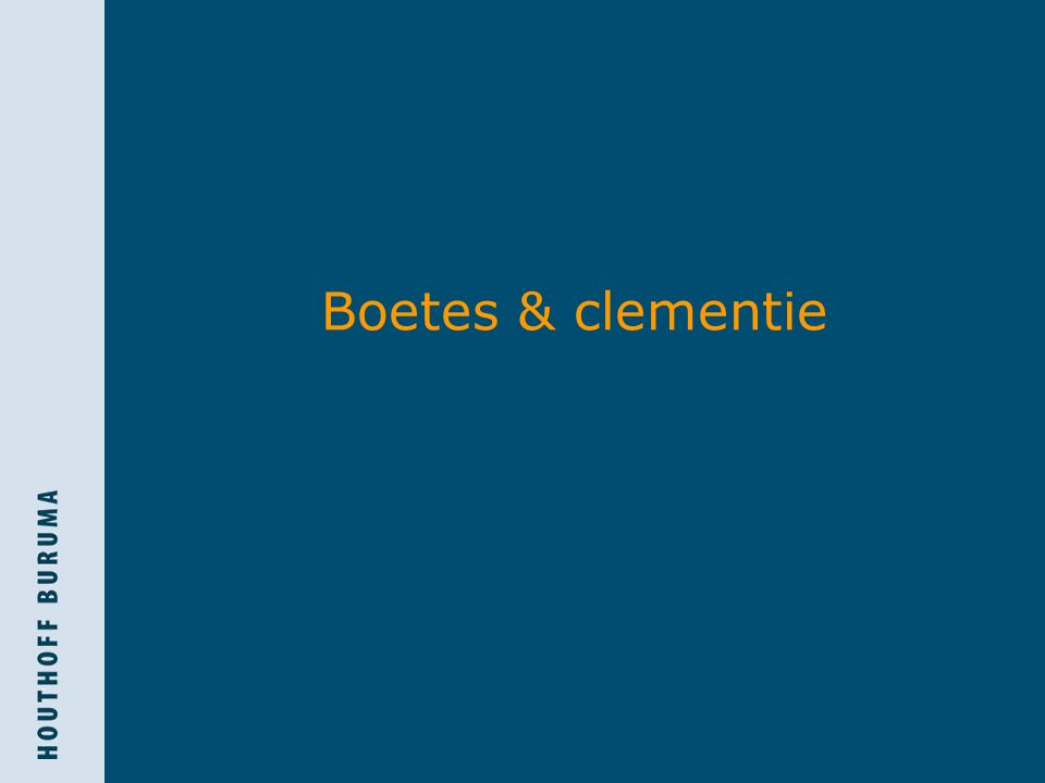 Boetes & clementie