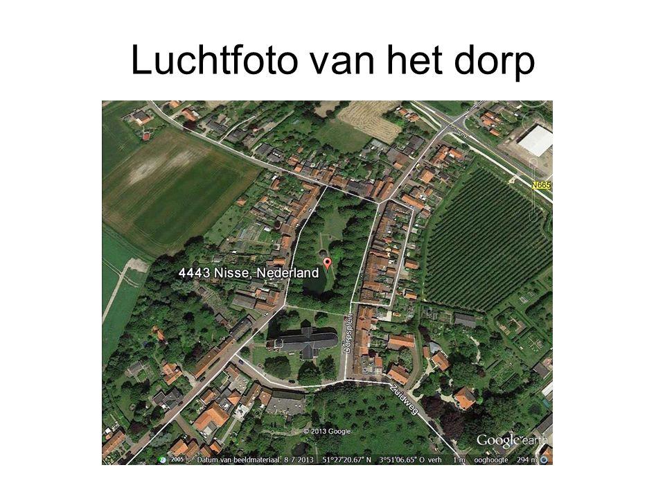 Luchtfoto van het dorp