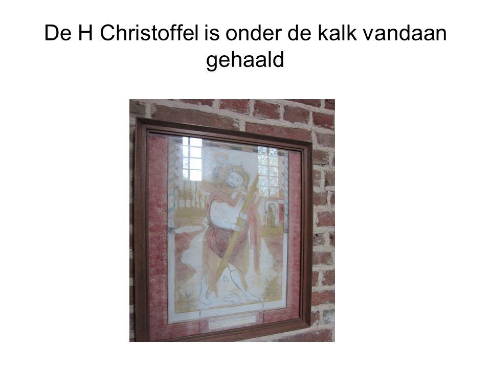 De H Christoffel is onder de kalk vandaan gehaald