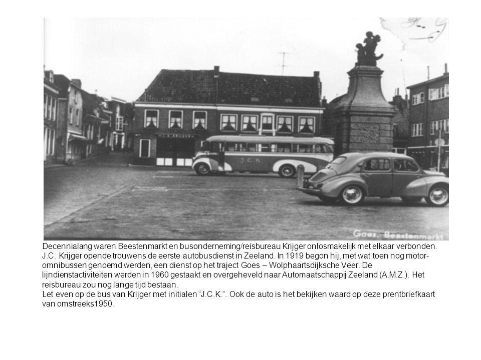 Decennialang waren Beestenmarkt en busonderneming/reisbureau Krijger onlosmakelijk met elkaar verbonden.