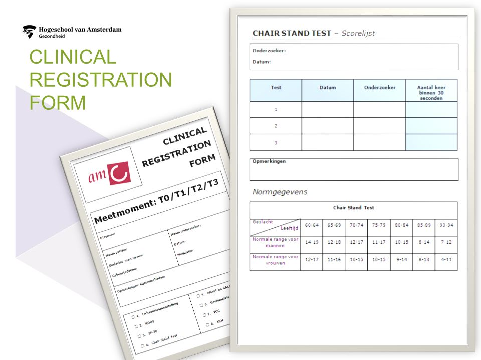 CLINICAL REGISTRATION FORM