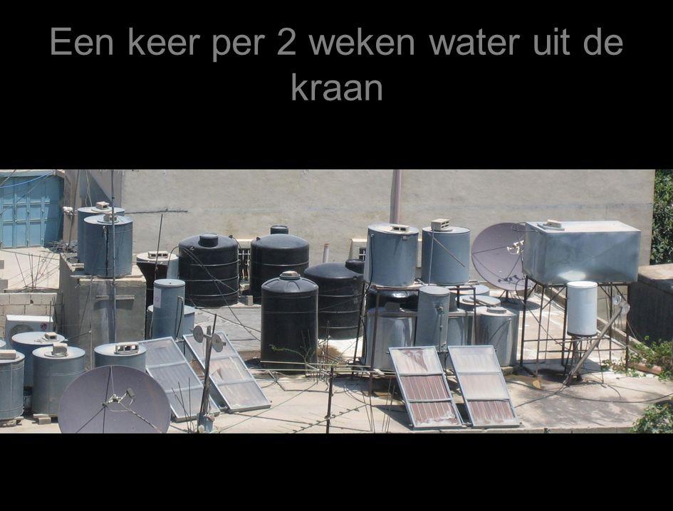 Een keer per 2 weken water uit de kraan