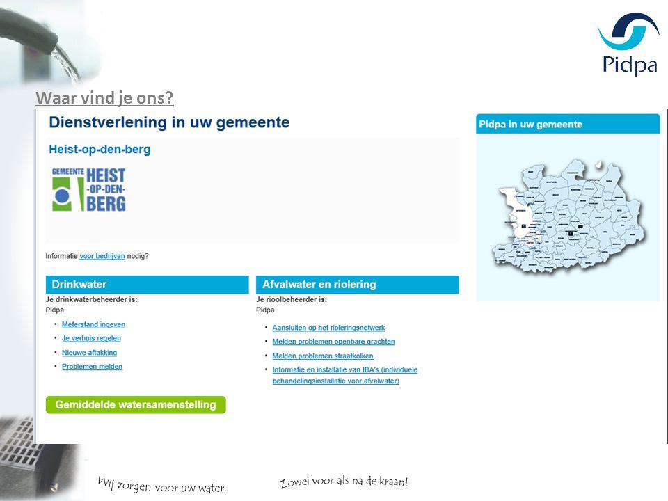 Waar vind je ons www.pidpa.be