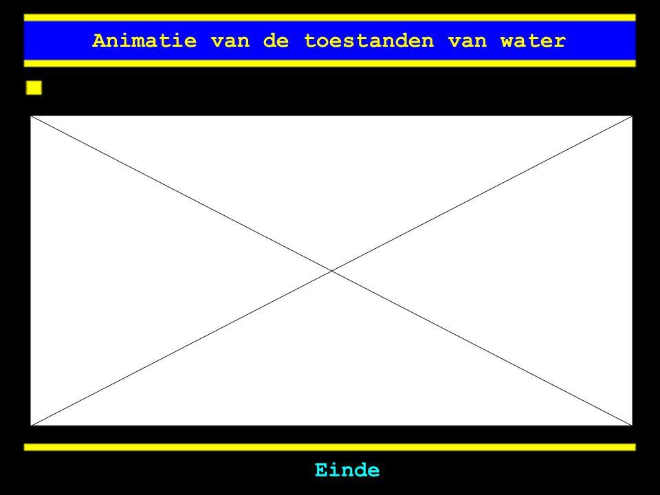Animatie van de toestanden van water Einde
