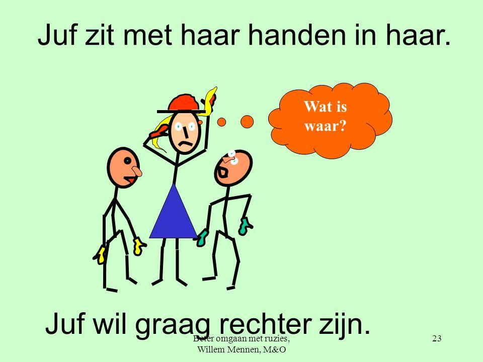 Beter omgaan met ruzies, Willem Mennen, M&O 23 Juf wil graag rechter zijn.