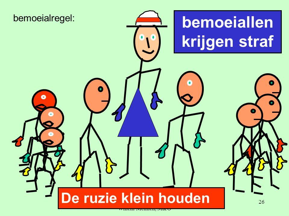 Beter omgaan met ruzies, Willem Mennen, M&O 26 bemoeiallen krijgen straf De ruzie klein houden bemoeialregel: