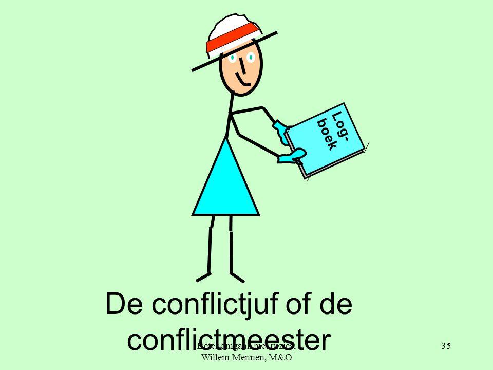 Beter omgaan met ruzies, Willem Mennen, M&O 35 De conflictjuf of de conflictmeester Log- boek