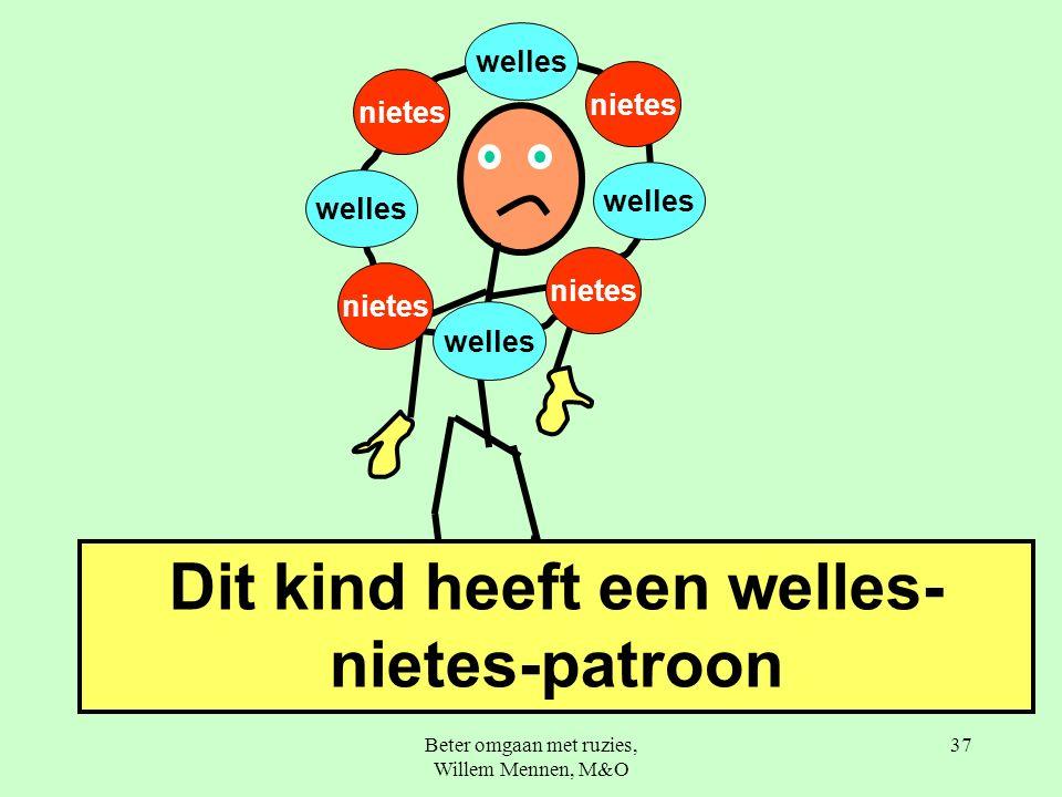Beter omgaan met ruzies, Willem Mennen, M&O 37 nietes welles Dit kind heeft een welles- nietes-patroon