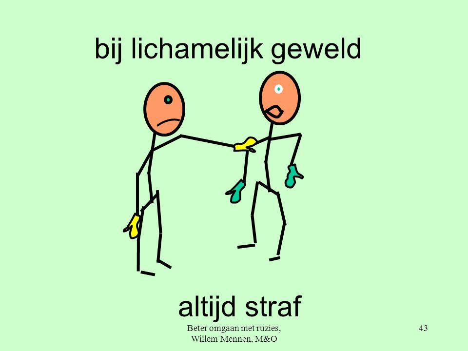 Beter omgaan met ruzies, Willem Mennen, M&O 43 bij lichamelijk geweld altijd straf