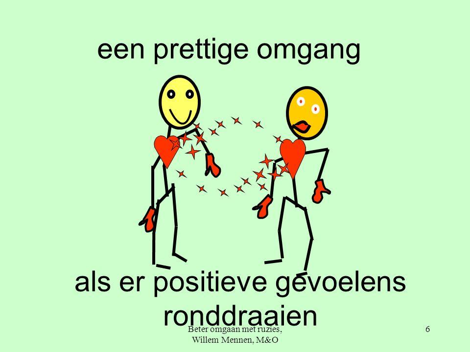 Beter omgaan met ruzies, Willem Mennen, M&O 6 een prettige omgang als er positieve gevoelens ronddraaien