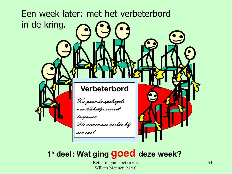 Beter omgaan met ruzies, Willem Mennen, M&O 64 1 e deel: Wat ging goed deze week.