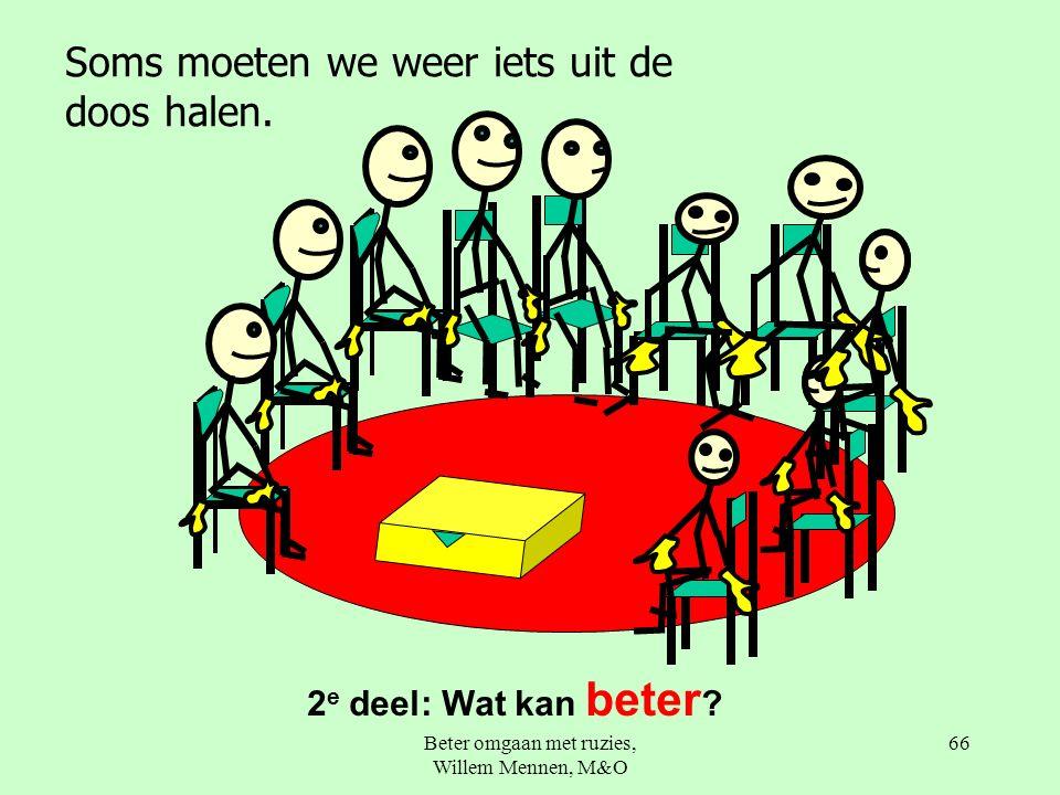 Beter omgaan met ruzies, Willem Mennen, M&O 66 2 e deel: Wat kan beter .