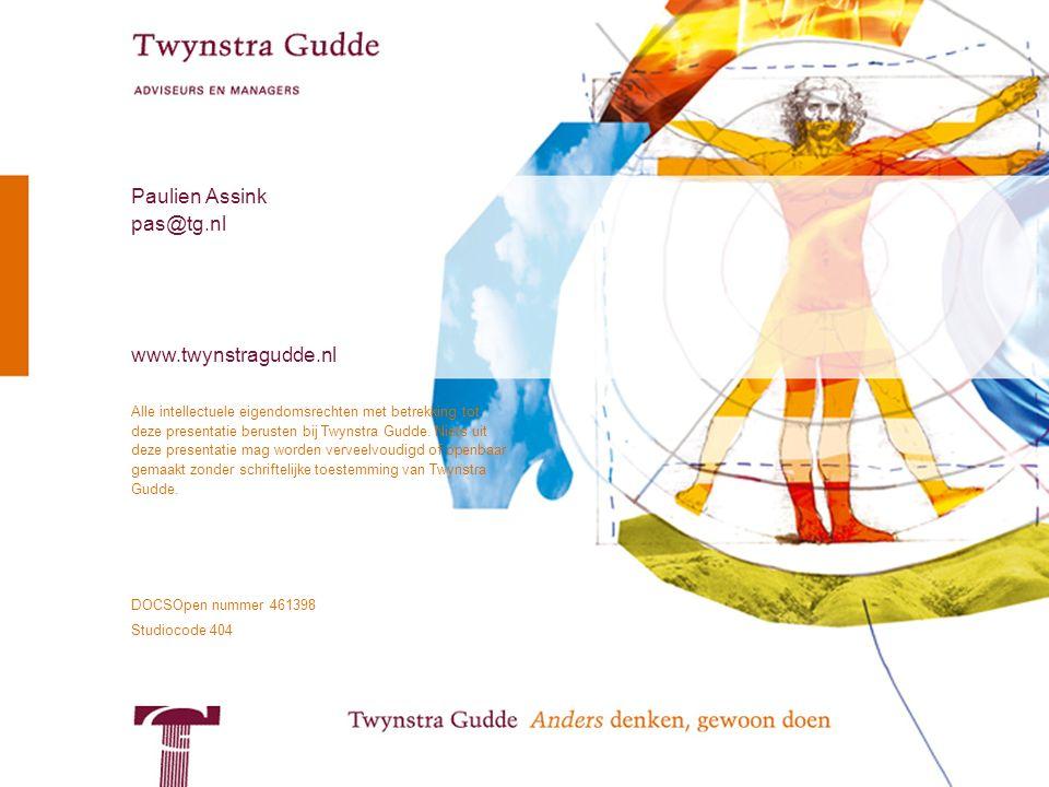 © Twynstra Gudde 26 juni 2007 Uit het harnas 16 Alle intellectuele eigendomsrechten met betrekking tot deze presentatie berusten bij Twynstra Gudde. N