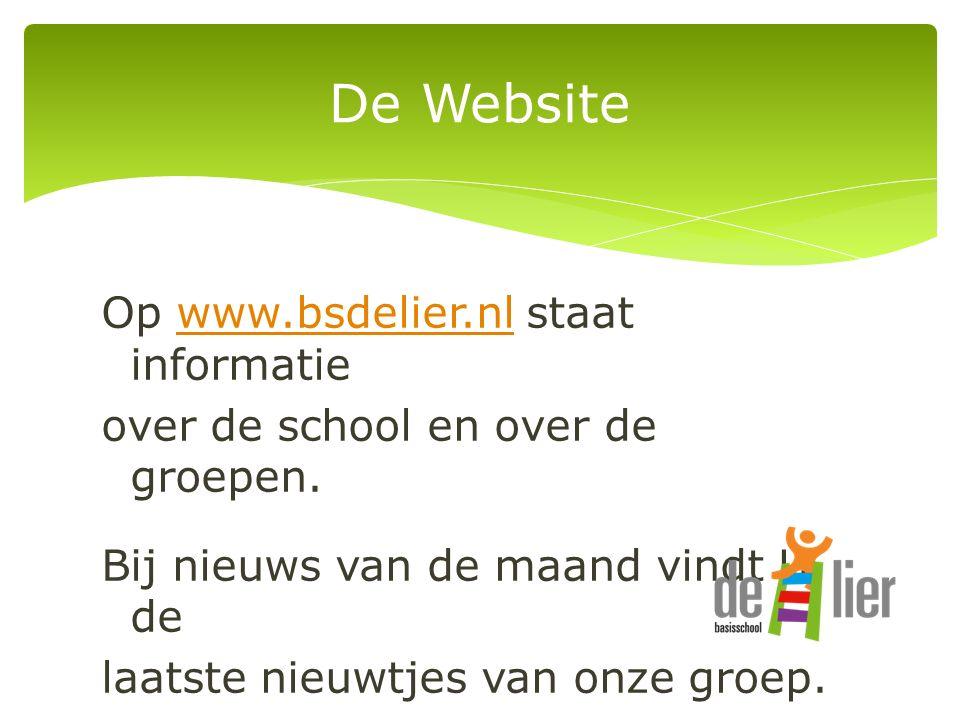Op www.bsdelier.nl staat informatiewww.bsdelier.nl over de school en over de groepen.