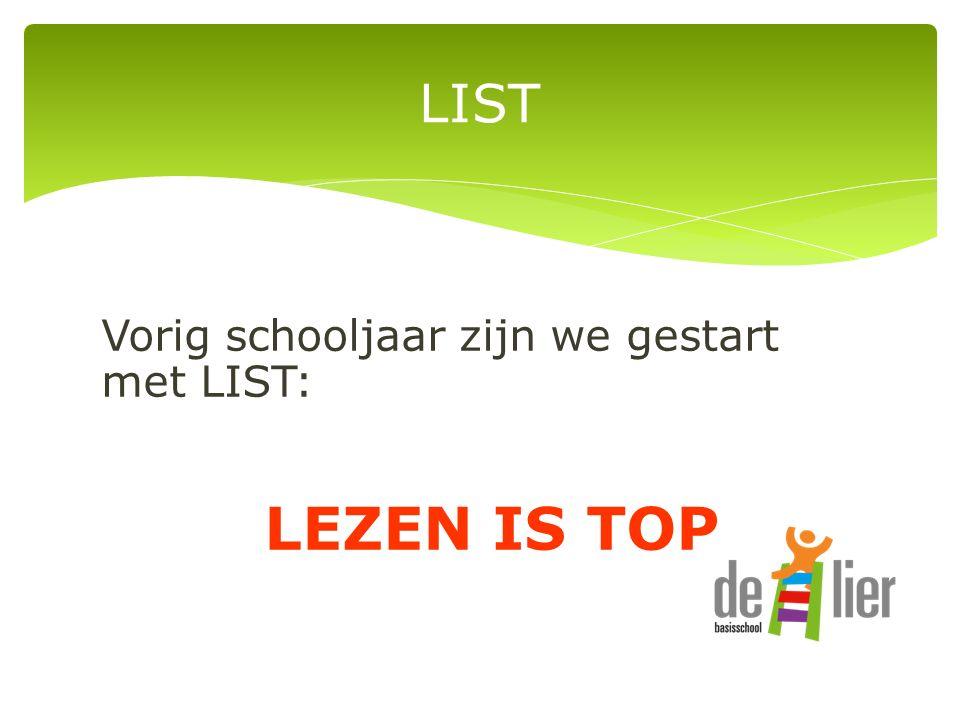 Vorig schooljaar zijn we gestart met LIST: LEZEN IS TOP LIST